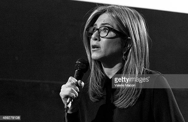 Actress Jennifer Aniston attends the QA for American Cinematheque hosts special screening of 'Cake' the Egyptian Theatre on November 19 2014 in...