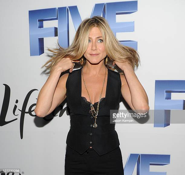 Actress Jennifer Aniston attends the screening of 'Five' at Skylight SOHO on September 26 2011 in New York City
