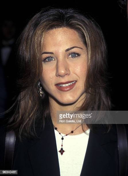 Actress Jennifer Aniston attends the Screening of the NBC Television Movie 'Serving in Silence The Margarethe Cammermeyer Story' on January 23 1995...