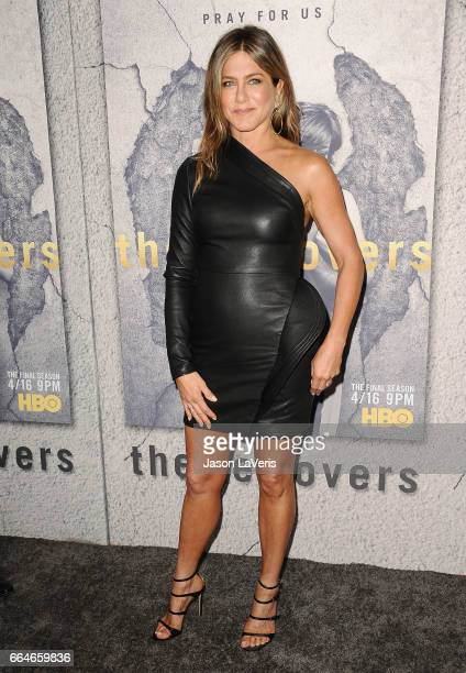 Actress Jennifer Aniston attends the season 3 premiere of The Leftovers at Avalon Hollywood on April 4 2017 in Los Angeles California