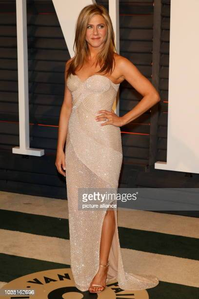 Actress Jennifer Aniston attends the Vanity Fair Oscar Party at Wallis Annenberg Center for the Performing Arts in Beverly Hills Los Angeles USA on...