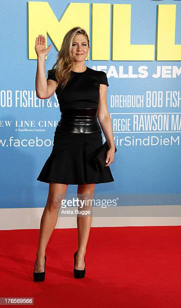 Actress Jennifer Aniston attends the 'We're The Millers' Germany premiere at CineStar on August 15 2013 in Berlin Germany