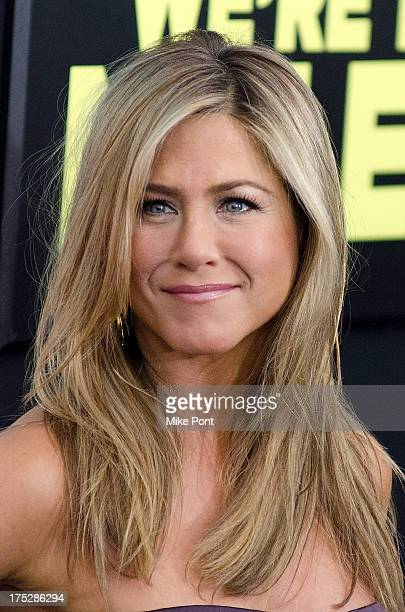 Actress Jennifer Aniston attends the We're The Millers New York Premiere at Ziegfeld Theater on August 1 2013 in New York City