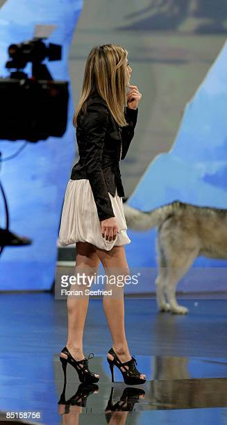 Actress Jennifer Aniston attends the Wetten dass...? show at the Messe Duesseldorf on February 28, 2009 in Duesseldorf, Germany.