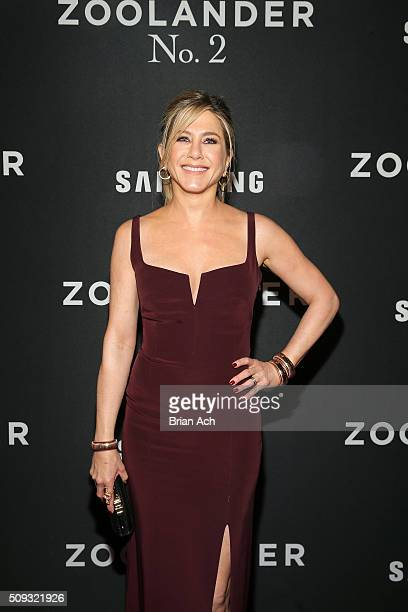 Actress Jennifer Aniston attends the 'Zoolander No 2' World Premiere at Alice Tully Hall on February 9 2016 in New York City