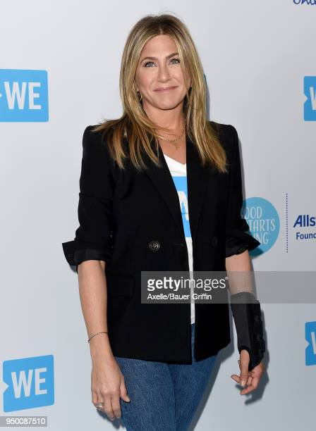 Actress Jennifer Aniston attends WE Day California at The Forum on April 19 2018 in Inglewood California