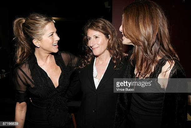 Actress Jennifer Aniston director Nicole Holofcener and actress Catherine Keener arrive at the Sony Pictures Classics premiere of the film Friends...