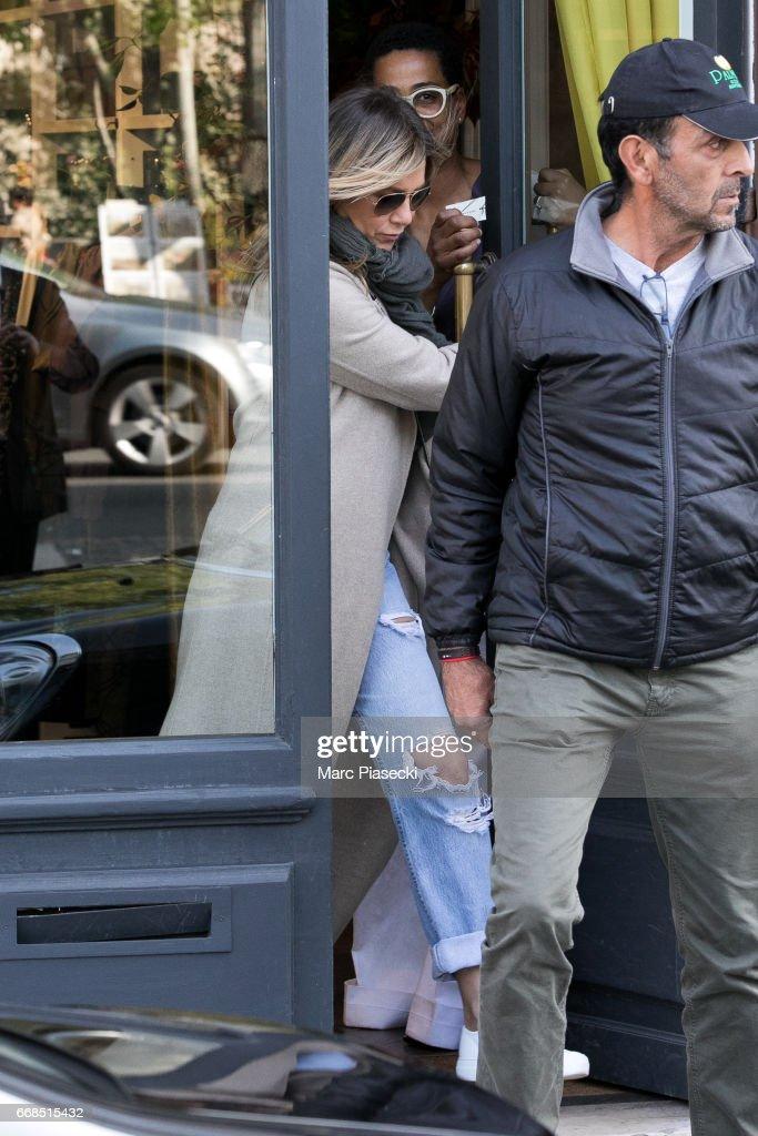 Celebrity Sightings In Paris -  April 14, 2017 : News Photo