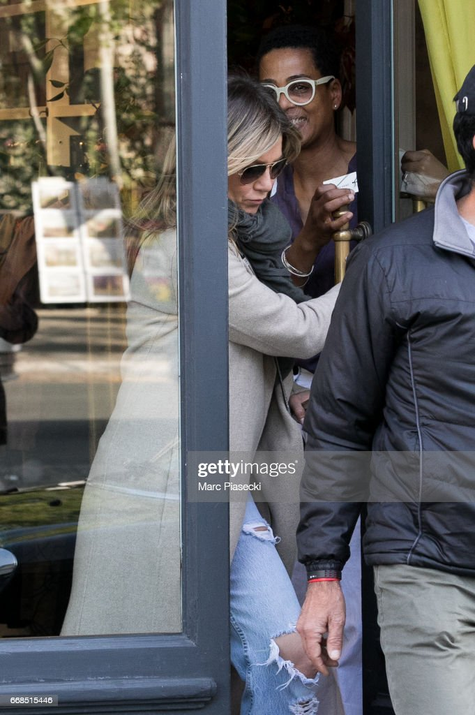 Celebrity Sightings In Paris -  April 14, 2017 : News Photo