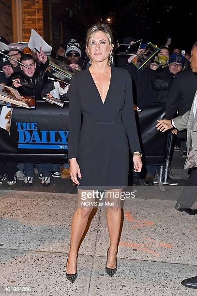 Actress Jennifer Aniston is seen on January 22 2015 in New York City