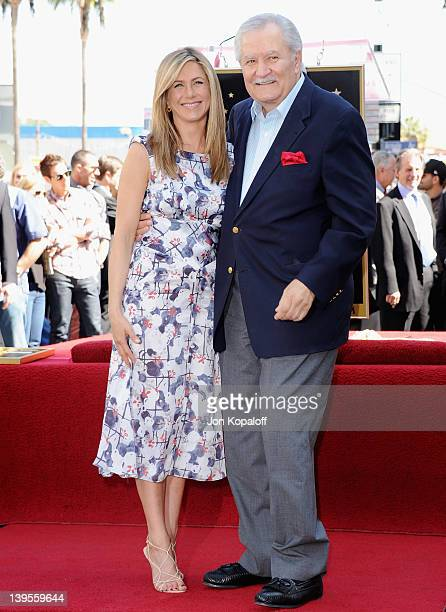 Actress Jennifer Aniston kisses her father John Aniston at Jennifer Aniston Honored With Star On The Hollywood Walk Of Fame on February 22 2012 in...