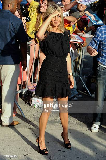 Actress Jennifer Aniston leaves the Daily Show With Jon Stewart taping at NEP Studio 52 on June 27 2011 in New York City
