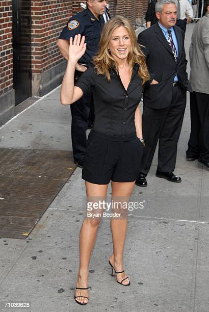 Actress Jennifer Aniston leaves the Ed Sullivan Theater after a taping of the Late Show with David LettermanMay 24 2006 in New York City