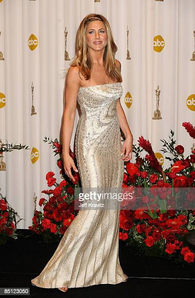 Actress Jennifer Aniston poses in the 81st Annual Academy Awards press room held at The Kodak Theatre on February 22 2009 in Hollywood California