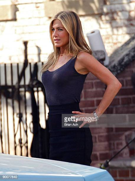 Actress Jennifer Aniston seen on the Streets of Manhattan on August 24 2009 in New York City