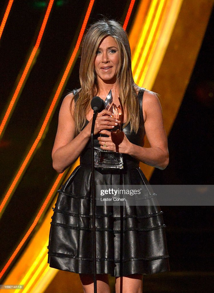 Actress Jennifer Aniston speaks onstage during the 2013 People's Choice Awards at Nokia Theatre L.A. Live on January 9, 2013 in Los Angeles, California.