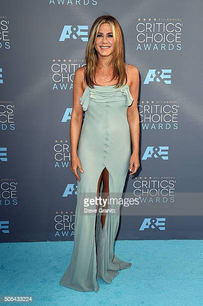 Actress Jennifer Aniston speaks onstage during the 21st Annual Critics' Choice Awards at Barker Hangar on January 17 2016 in Santa Monica California