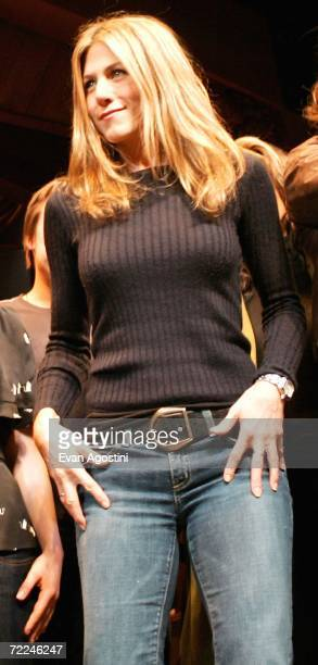 Actress Jennifer Aniston takes a curtain call onstage at the 6th Annual 24 Hour Plays on Broadway to benefit the Working Playground Inc at the...