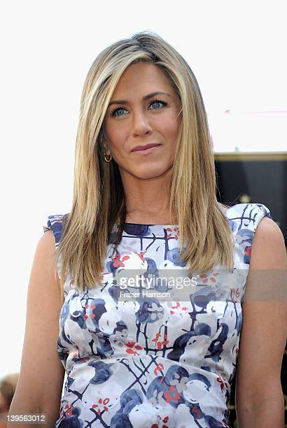 Actress Jennifer Aniston who was honored with a star on the Hollywood Walk Of Fame on February 22 2012 in Hollywood California