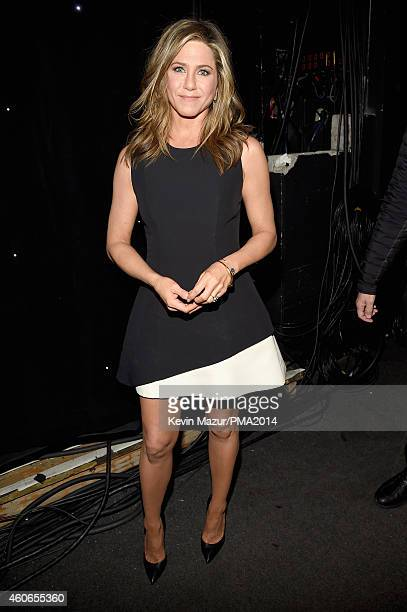 Actress Jennifer Aniston winner of the Movie Performance of the Year Actress award attends the PEOPLE Magazine Awards at The Beverly Hilton Hotel on...