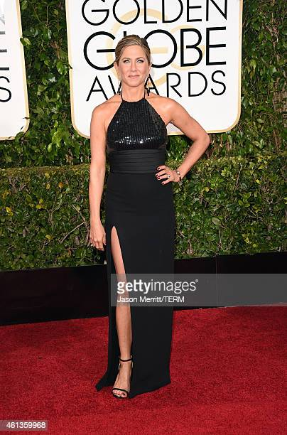 Actress Jennifer Anistonattends the 72nd Annual Golden Globe Awards at The Beverly Hilton Hotel on January 11 2015 in Beverly Hills California