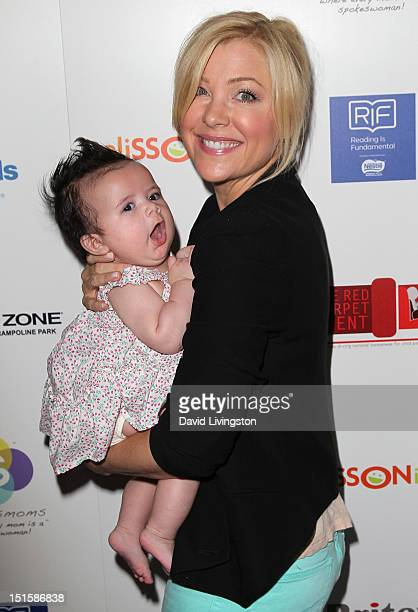 Actress Jennifer Aspen and daughter Charlotte Sofia O'Donnell attend the 2nd Annual Red CARpet event at SLS Hotel on September 8, 2012 in Beverly...