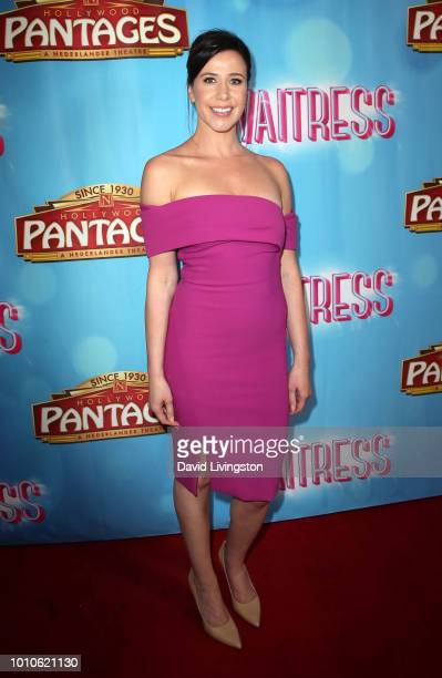 Actress Jennifer Bartels attends the national tour of Waitress Los Angeles engagement celebration at the Hollywood Pantages Theatre on August 3 2018...