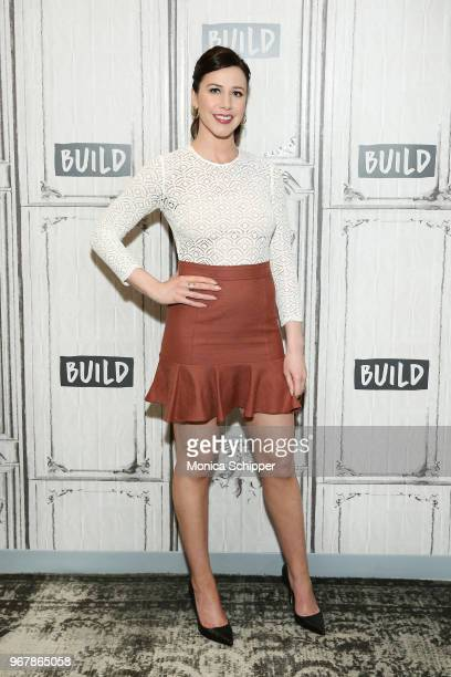 Actress Jennifer Bartels visits Build Studio to discuss the television show American Woman on June 5 2018 in New York City