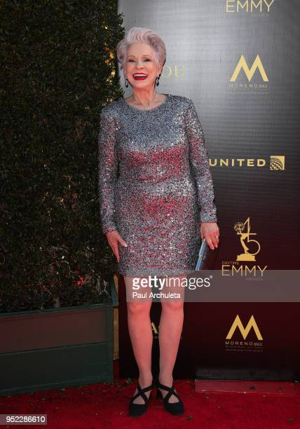 Actress Jennifer Bassey attends the 45th Annual Daytime Creative Arts Emmy Awards at the Pasadena Civic Auditorium on April 27 2018 in Pasadena...