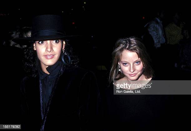 Actress Jennifer Beals and actress Jodie Foster attend the 24th Annual New York Film Festival Opening Night 'Down by Law' Screening on September 19...