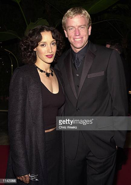 Actress Jennifer Beals and costume designer Christopher Lawrence arrive at the 3rd Annual Costume Designers Guild Awards March 17 2001 at the Beverly...
