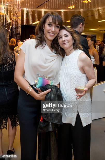 Actress Jennifer Beals and executive producer Ilene Chaiken attend Saks Fifth Avenue Empire Fashion Week Event on September 12 2015 in New York City