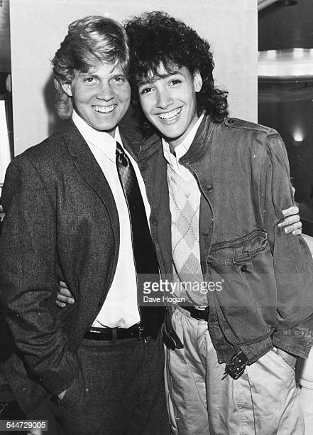 Actress Jennifer Beals and film producer Rob Simonds at the premiere of the movie 'Flashdance' in London June 30th 1983