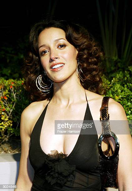 Actress Jennifer Beals arrives at Miramax's Annual Max Awards PreOscar party held at the Regis Hotel on February 28 2004 in Beverly Hills California