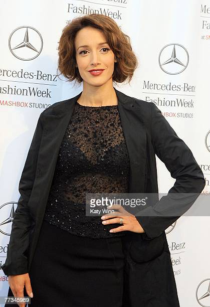 Actress Jennifer Beals attends Mercedes Benz Fashion Week held at Smashbox Studios on October 15 2007 in Culver City California