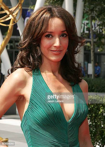 Actress Jennifer Beals attends the 2008 Primetime Creative Arts Emmy Awards at the Nokia Theater on September 13 2008 in Los Angeles California