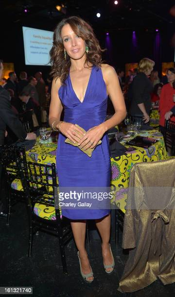 Actress Jennifer Beals attends the Family Equality Council LA Awards Dinner at The Globe Theatre at Universal Studios on February 9 2013 in Universal...