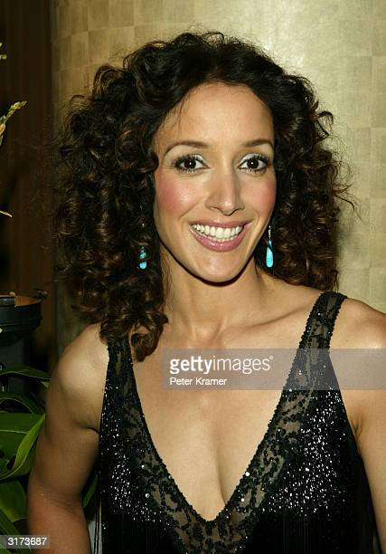 Actress Jennifer Beals attends the honoring of Showtime's Matt Blank by Cable Positive on March 30 2004 at the Marriott Marquis Hotel in New York City