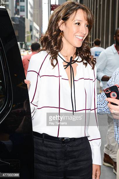 Actress Jennifer Beals leaves the Sirius XM Studios on June 16 2015 in New York City