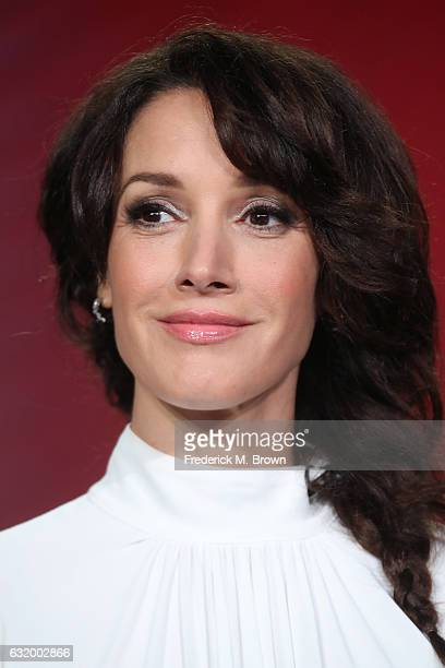 Actress Jennifer Beals of the television show 'Taken' speaks onstage during the NBCUniversal portion of the 2017 Winter Television Critics...