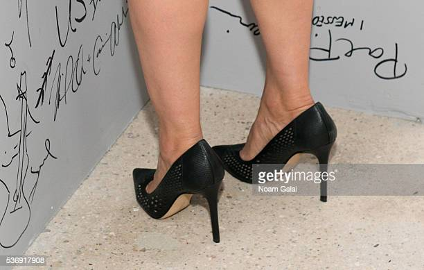 Actress Jennifer Beals shoe detail visits AOL Build to discuss her role in NBC's 'The Night Shift' at AOL Studios In New York on June 1 2016 in New...