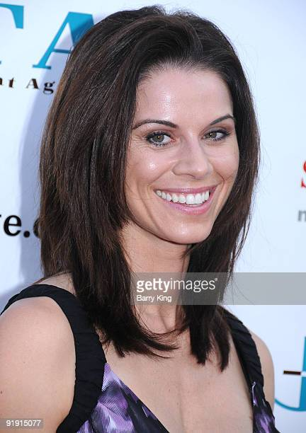 Actress Jennifer Bini Taylor arrives at the 3rd Annual Bow Wow Wow Hollywood Celebrity Fundraising Party held at The Lot on August 22 2009 in West...