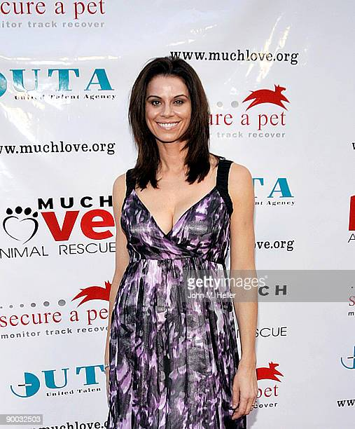 Actress Jennifer Bini Taylor attends the Much Love Animal Rescue SecureAPet's summer fundraiser Bow Wow WOW Hollywood at the Lot in Hollywood on...