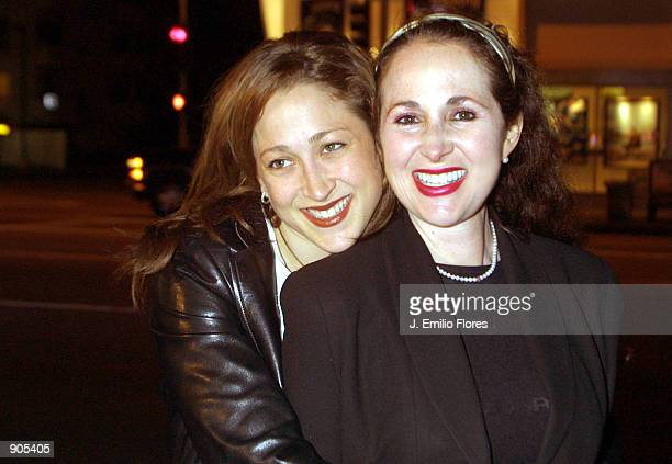 Actress Jennifer Blanc and her mother Jenise arrive at the grand opening of the new Fatburger April 8 2002 in Brentwood CA The fast food restaurant...