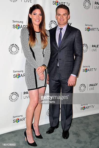 Actress Jennifer Carpenter and actor Michael C Hall arrive at the 2013 Fall Farewell 'Dexter' at The Paley Center for Media on September 12 2013 in...