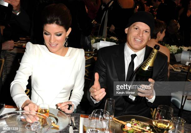 Actress Jennifer Carpenter and actor Michael C Hall attends the16th Annual Screen Actors Guild Awards cocktail reception held at the Shrine...
