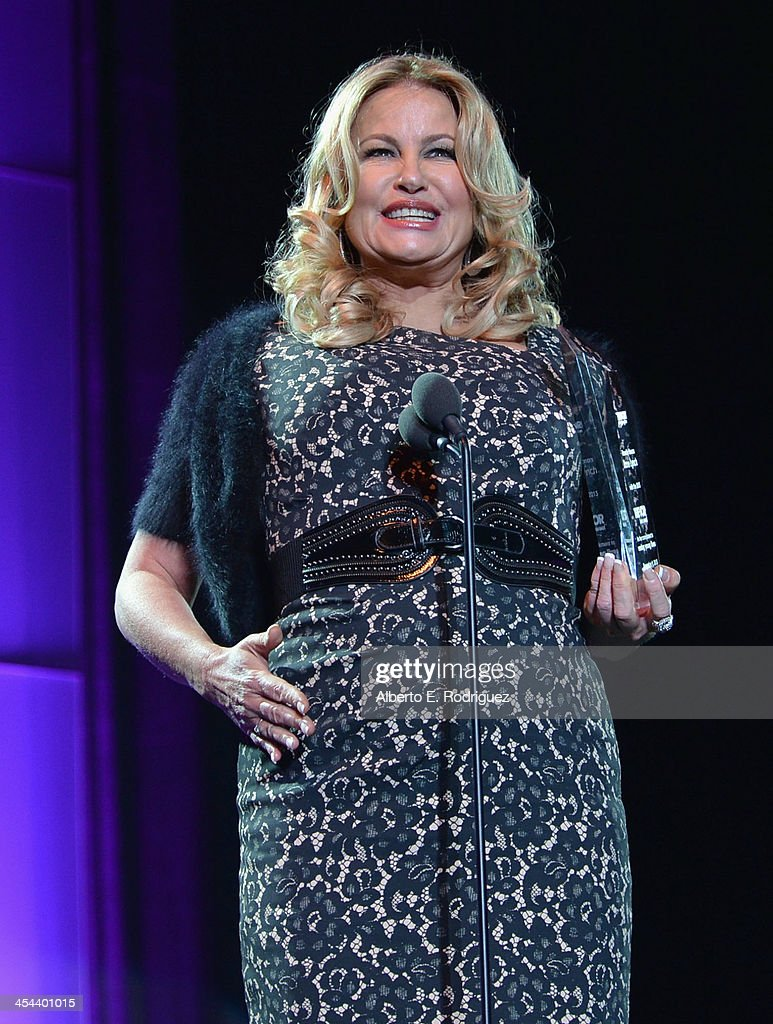 Actress Jennifer Collidge speaks onstage at 'TrevorLIVE LA' honoring Jane Lynch and Toyota for the Trevor Project at Hollywood Palladium on December 8, 2013 in Hollywood, California.