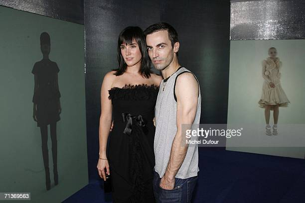 Actress Jennifer Connelly and designer Nicolas Ghesquiere attend a retrospective of the work of Cristobal Balenciaga at the Museum of Fashion and...