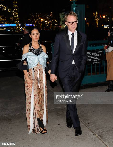Actress Jennifer Connelly and Paul Bettany are seen on November 30 2017 in New York City