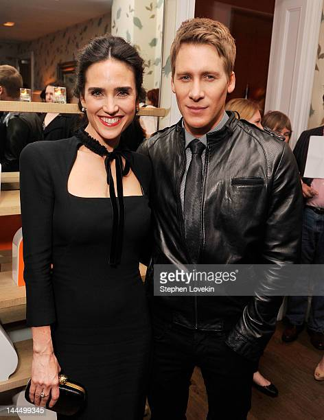 Actress Jennifer Connelly and writer/director Dustin Lance Black attend the after party for a screening of 'Virginia' hosted by The Cinema Society...